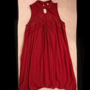 Flouncy Red Tunic
